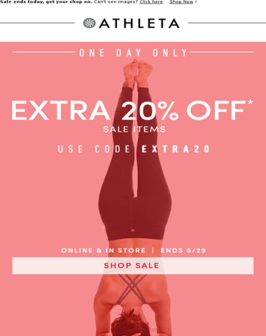 One Day. 20% OFF. Let's do this!