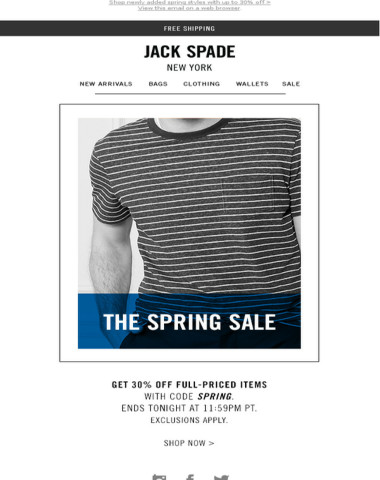 Like spring, this sale is almost over