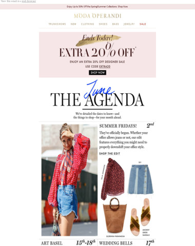 The June Agenda: your stylish month ahead