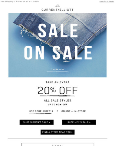 Too good to miss… Sale's on sale!