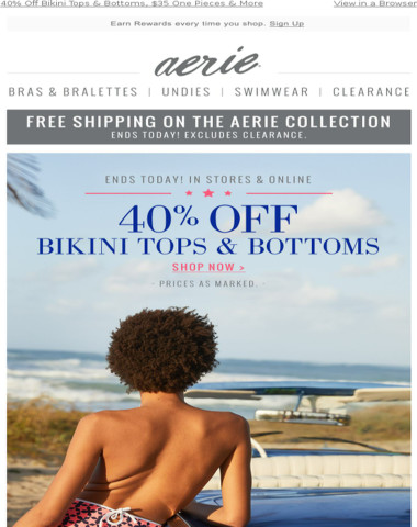PIPIN' HOT! 40% Off Swim & More Ends Today