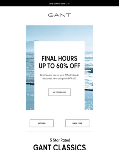 Final Hours! Save up to 60% Off Sale Items Today