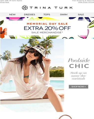 Poolside Chic + Sale on Sale