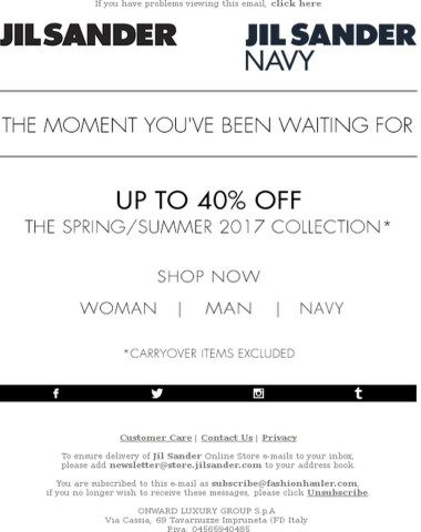 The Sale is starting | Up to 40% off
