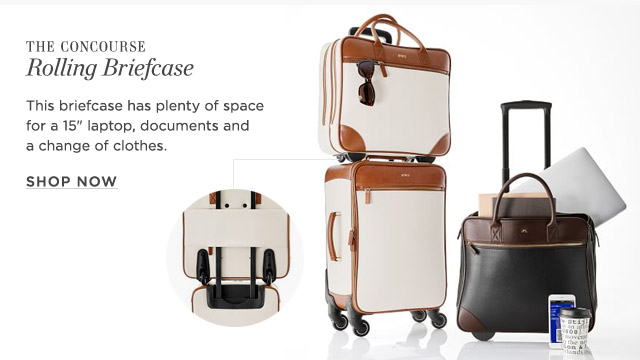 c8c4ad2c02d6 THE CONCOURSE Rolling Briefcase - This briefcase has plenty of space for a  15