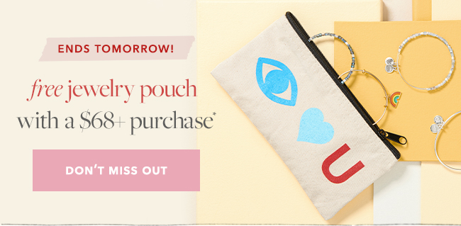Get a FREE pouch with $68+ purchase, online and in-store.