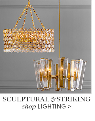 SCULPTURAL & STRIKING - shop LIGHTING
