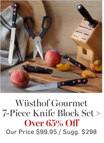Wüsthof Gourmet 7-Piece Knife Block Set - Over 65% Off