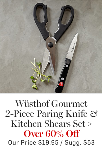 Wüsthof Gourmet 2-Piece Paring Knife & Kitchen Shears Set - Over 60% Off