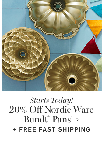 20% Off Nordic Ware Bundt® Pans* + FREE FAST SHIPPING