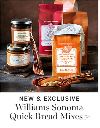 NEW & EXCLUSIVE - Williams Sonoma Quick Bread Mixes