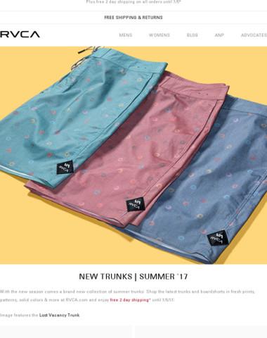 New season, new trunks!