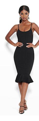 Ruffle Hem Bodycon Dress