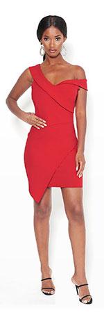 Asymmetric Mini Dress