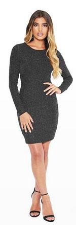 Banded Back Mini Dress