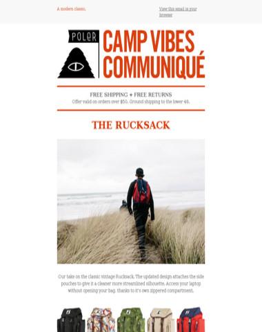 The Poler Rucksack