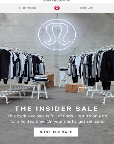 3 words: Online. Warehouse. Sale.