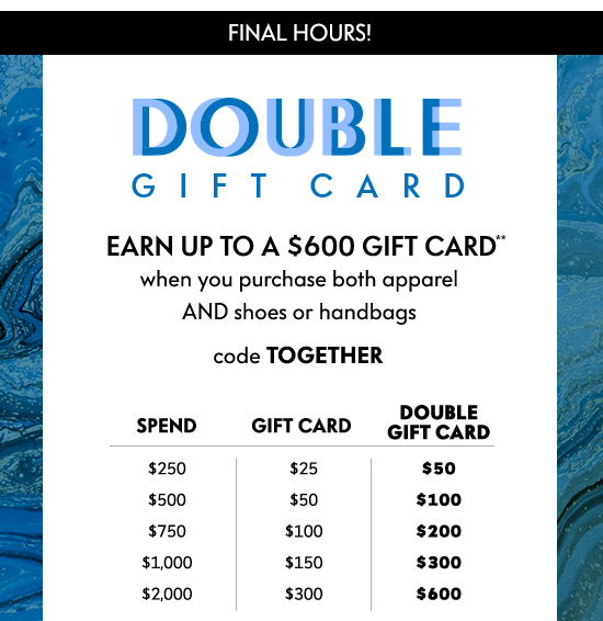 Double gift card!