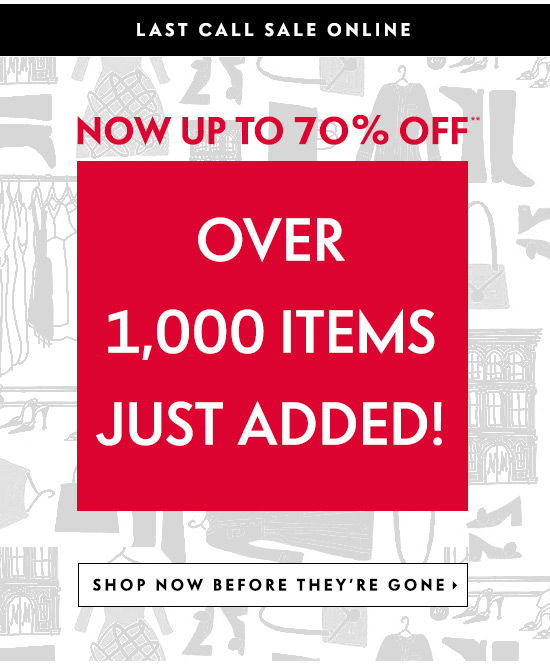 Over 1,000 new sale items