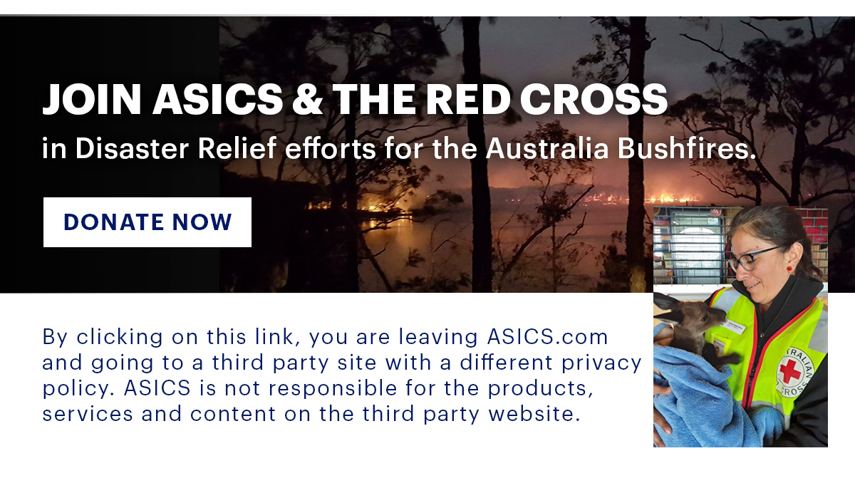 Join ASICS & The Red Cross Donate Now