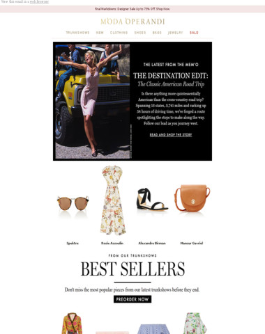 06fa643963 Moda Operandi - Your guide to the ultimate road trip + the top sellers from  trunkshow