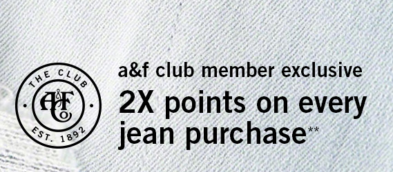 Earn Double Points on Jeans*