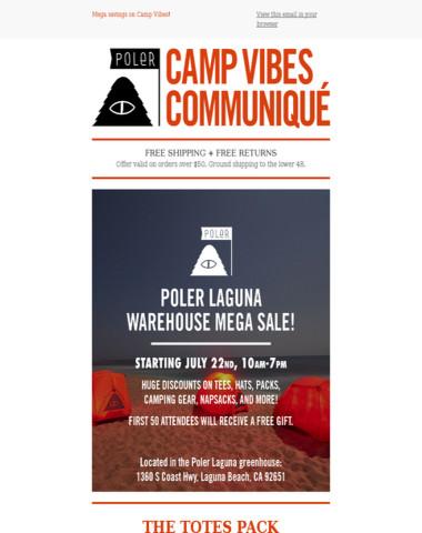 Poler Laguna Warehouse Sale   Totes Pack