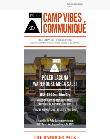 Poler Laguna Warehouse Sale   Rambler Pack