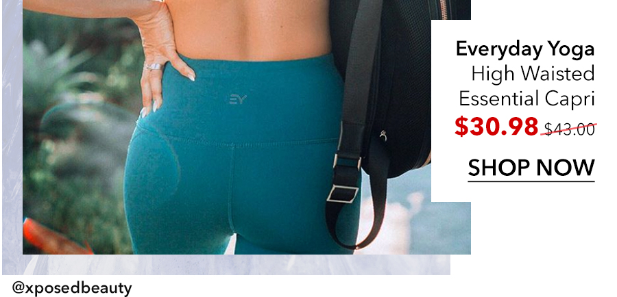 blue capri leggings