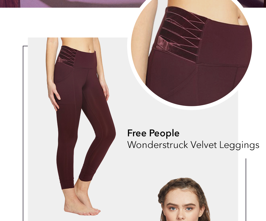 shop red velvet leggings