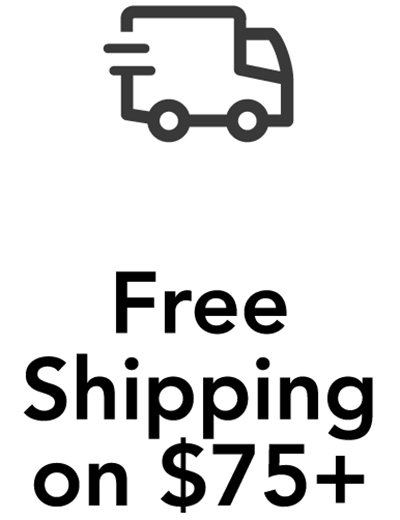 Free Shipping on $75+