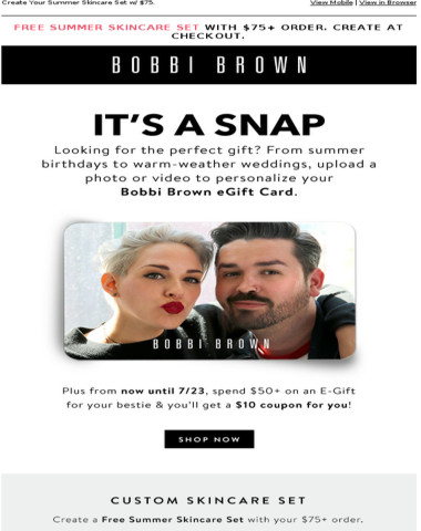 Ends Tomorrow! Get $10 Off with eGift purchase