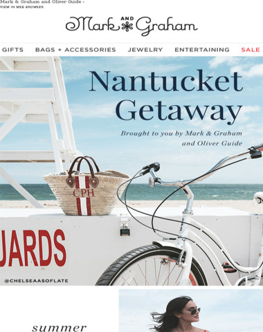 Nantucket, sun and straw bags. Shop now!