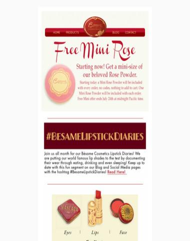 Free Mini Vanilla Rose Powder - Bésame Cosmetics - July 22nd