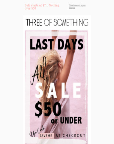 Big SALE continues... Prices start at $7... Nothing over $50