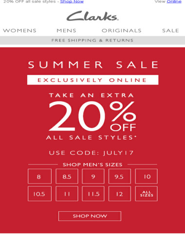 Take 20% OFF sale styles