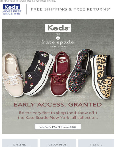 Your early access to Kate Spade New York
