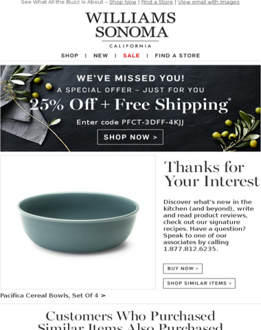 Thanks For Your Interest In: Pacifica Cereal Bowls, Set Of 4