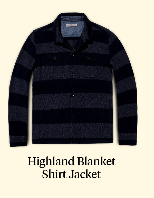 HIGHLAND BLANKET SHIRT JACKET