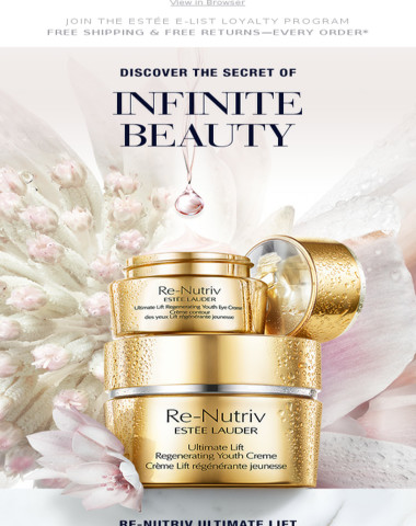 Discover The Secret of Infinite Beauty from Re-Nutriv.