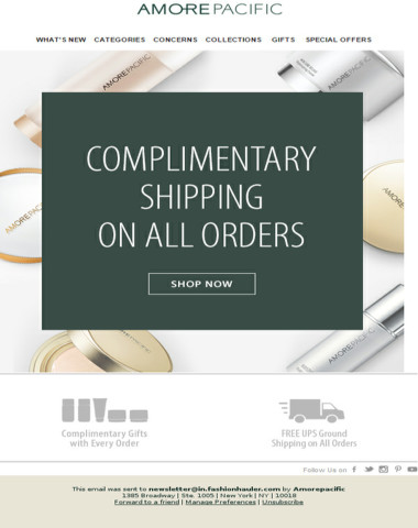 Enjoy Complimentary Shipping On All Orders