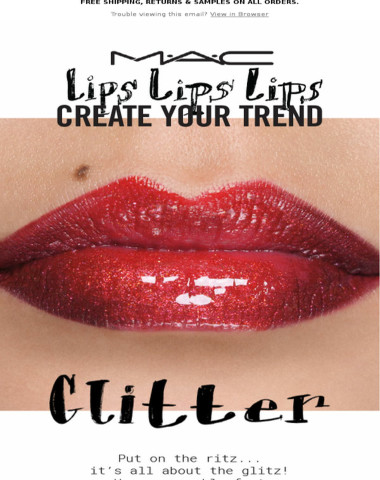 Be a Trend-Setter with Glitter Lips!