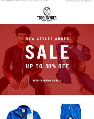 SALE | Champion Tracksuits Up To 50% Off