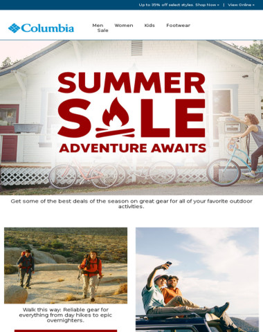 Great deals for summer adventure.