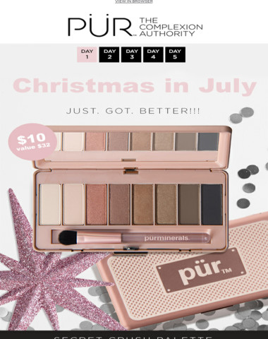 Take 68% off our Secret Crush Palette, today only!