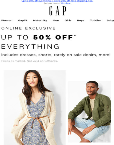 Effective immediately: we're declaring up to 50% off EVERYTHING (+ an extra bonus)