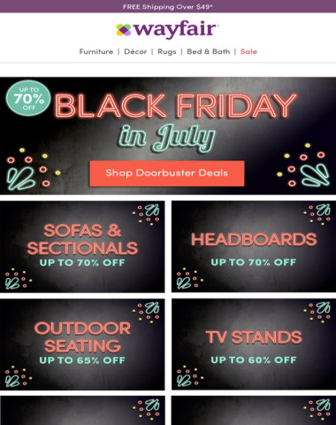 best service 64bf6 2b617 Wayfair - ⏳ Just hours left! Black Friday deals are going ...