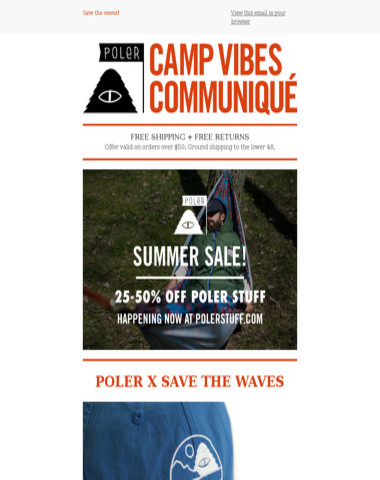 Poler X Save The Waves   Limited Edition Hat!