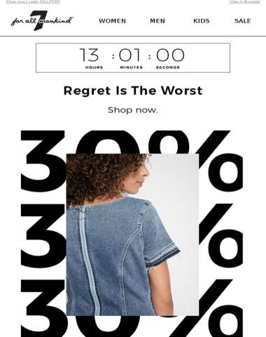 30% Off Single Item – ENDS TONIGHT