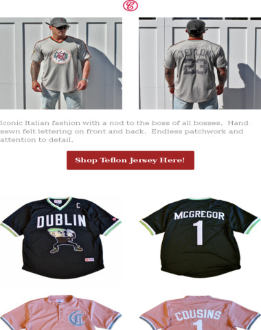 The Teflon Pro Style Jersey is Now Available